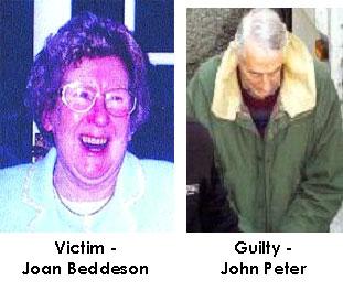 fotografías de la víctima y el acusado
