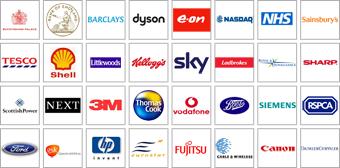 Gráfico que muestra los logotipos de las empresas que utilizan productos Galleon