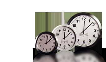 reloj de pared analógico de radio control