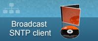 broadcast SNTP software de cliente cd + caso