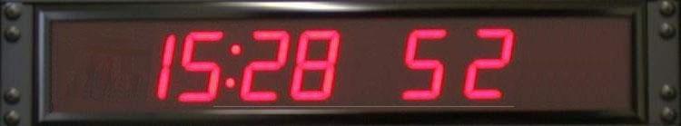 Reloj digital de montaje en rack