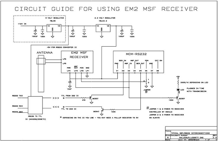 RS232 decodificador