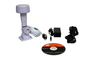 lo que se suministra con el receptor de tiempo AC-400-GPS